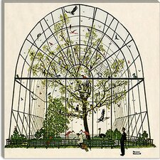 """The Aviary Canvas"" Wall Art by Norman Rockwell"