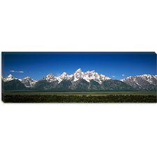 <strong>iCanvasArt</strong> Teton Point Turnout, Teton Range, Grand Teton National Park, Wyoming Canvas Wall Art