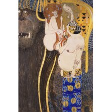 "<strong>iCanvasArt</strong> ""The Hostile Forces Unchastity, Voluptuousness, Excess"" Canvas Wall Art by Gustav Klimt"