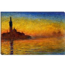 "<strong>iCanvasArt</strong> ""Twilight in Venice"" Canvas Wall Art by Claude Monet"