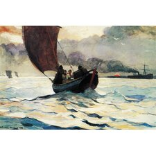 """Tynemouth, Returning Fishing Boats 1883"" Canvas Wall Art by Winslow Homer"