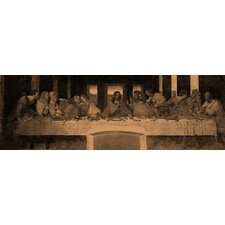 "<strong>iCanvasArt</strong> ""The Last Supper IV"" Panoramic Canvas Wall Art by Leonardo Da Vinci"