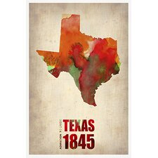 "<strong>iCanvasArt</strong> ""Texas Watercolor Map"" Canvas Wall Art by Naxart"