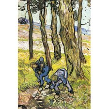 "<strong>iCanvasArt</strong> ""Two Men Digging Out a Tree Stump"" Canvas Wall Art by Vincent Van Gogh"