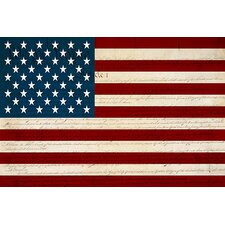 <strong>iCanvasArt</strong> U.S. Constitution - American Flag Canvas Wall Art