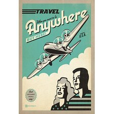 <strong>iCanvasArt</strong> Travel Anywhere Canvas Wall Art