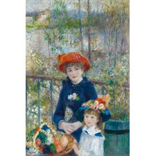 """Two Sisters (On the Terrace) 1881"" Canvas Wall Art by Pierre-Auguste Renoir"
