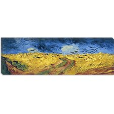 "<strong>iCanvasArt</strong> ""Wheatfield with Crows"" Canvas Wall Art by Vincent Van Gogh"