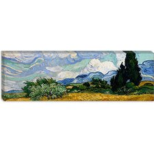 Wheatfield with Cypresses 1889 by Vincent Van Gogh (Panoramic)