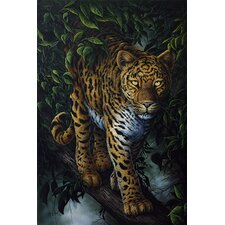 "<strong>iCanvasArt</strong> ""Watchful Eyes (Tiger)"" Canvas Wall Art by Jenny Newland"