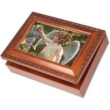 Traditional Angel In The Garden Music Box