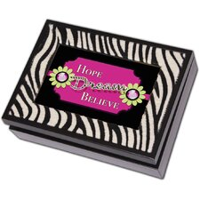 Digital Zebra Music Jewelry Box