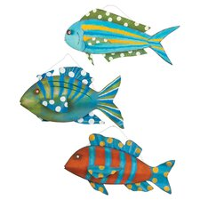 3 Piece Coastal Delights 3D Fish Wall Décor Set
