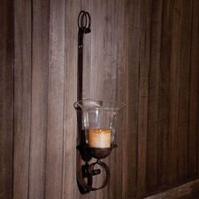 Dark Metal Wall Sconce With Glass Cylinder