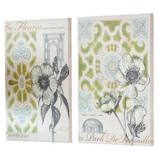 Outdoor Canvas Garden Plan Wall Decor (Set of 2)
