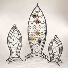 Nested Fish 3 Piece Set 35 Bottle Wine Rack