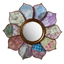 Bohemian Rhapsody Floral Pattern on Pattern Wall Mirror