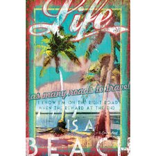 Life is a Beach by Cooper Reed Vintage Advertisement on Canvas