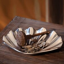 Coastal Chic Recycled Cast Aluminum Decorative Scallop Shell Dish