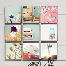 Vintage Canvas Art (Set of 9)