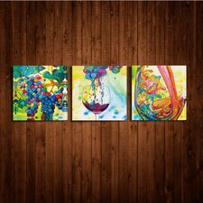 Pour It Indoor by Jennifer Callahan 3 Piece Graphic Art on Canvas Set