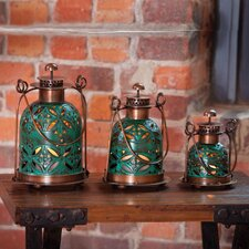 3 Piece Copper Lantern Set