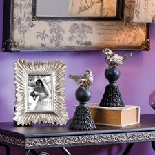 Matt Bird Finials and Picture Frame (Set of 3)