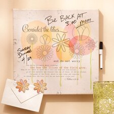 Consider the Lillies Dry Erase Memo Board with Magnets