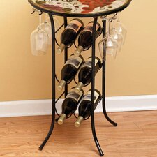 6 Bottle Tabletop Wine Glass Rack