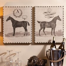 Cottage Equine Champions Indoor by Sam Appleman 2 Piece Graphic Art on Canvas Set