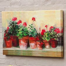 Outdoor Canvas Kathleen's Geraniums Wall Decor
