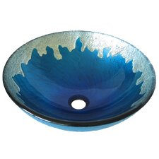 <strong>Novatto</strong> Diaccio Glass Vessel Bathroom Sink