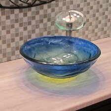 <strong>Novatto</strong> Mare Glass Vessel Bathroom Sink