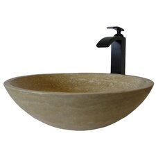 Vessel with Nickel Faucet and Strainer Drain
