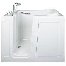 "Short 48"" x 28"" Long Air and Hydro Massage Walk-In Bathtub"