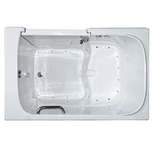 "Bariatric 55"" x 35"" Air Massage Walk-In Bathtub"