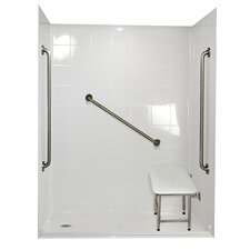 Standard Plus 36 Barrier Free Roll in System 4 Panels Shower Wall
