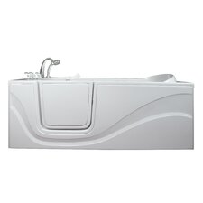 "Lay Down 60"" x 30"" Long Soaking Walk-In Bathtub"