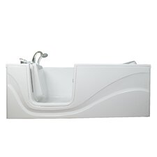"Lay Down 60"" x 30"" Long Air Walk-In Bathtub"