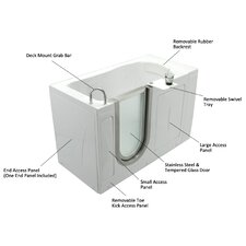 "<strong>Ella Walk In Baths</strong> 52"" x 28"" Petite Soaking Walk In Tub"