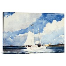 'Fishing Schooner, Nassau' by Winslow Homer Painting Print on Canvas