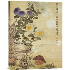 'Chrysanthemums and Quail' by Ma Yuanyu Painting Print on Canvas