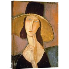'Head of a Woman' by Amedeo Modigliani Painting Print on Canvas