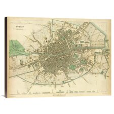 'Dublin, Ireland, 1836' by Society for the Diffusion of Useful Knowledge Graphic Art on Canvas