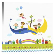 'Happy Children Enjoying Their Time V' Canvas Art