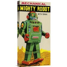 'Mechanical Mighty Robot' by Retrobot Vintage Advertisement on Canvas