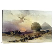 'Approach of The Simoom. Desert of Gizeh' by David Roberts Painting Print on Canvas