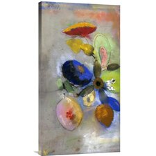 'Flowers' by Odilon Redon Painting Print on Canvas