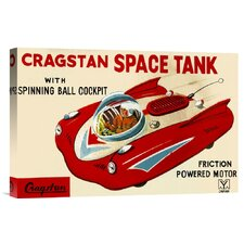 'Cragstan Space Tank' by Retrotrans Vintage Advertisement on Canvas