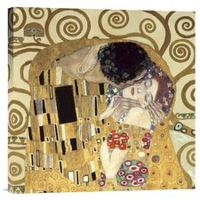 'The Kiss' by Gustav Klimt Painting Print on Canvas